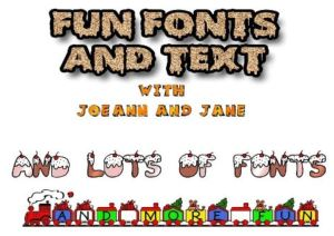 fun fonts and text, graphics